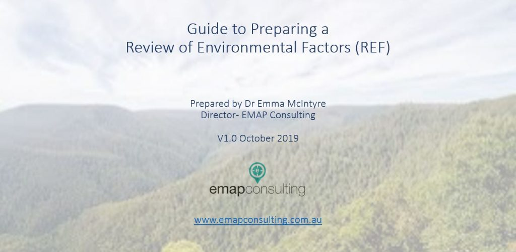 Guide to Planning a Review of Environmental Factors.